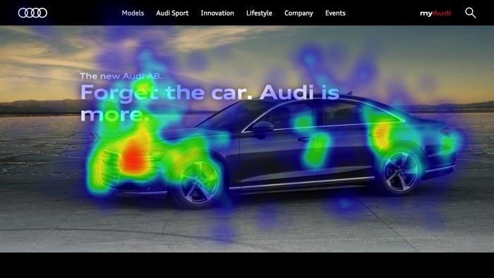 Mappa di calore su Audi